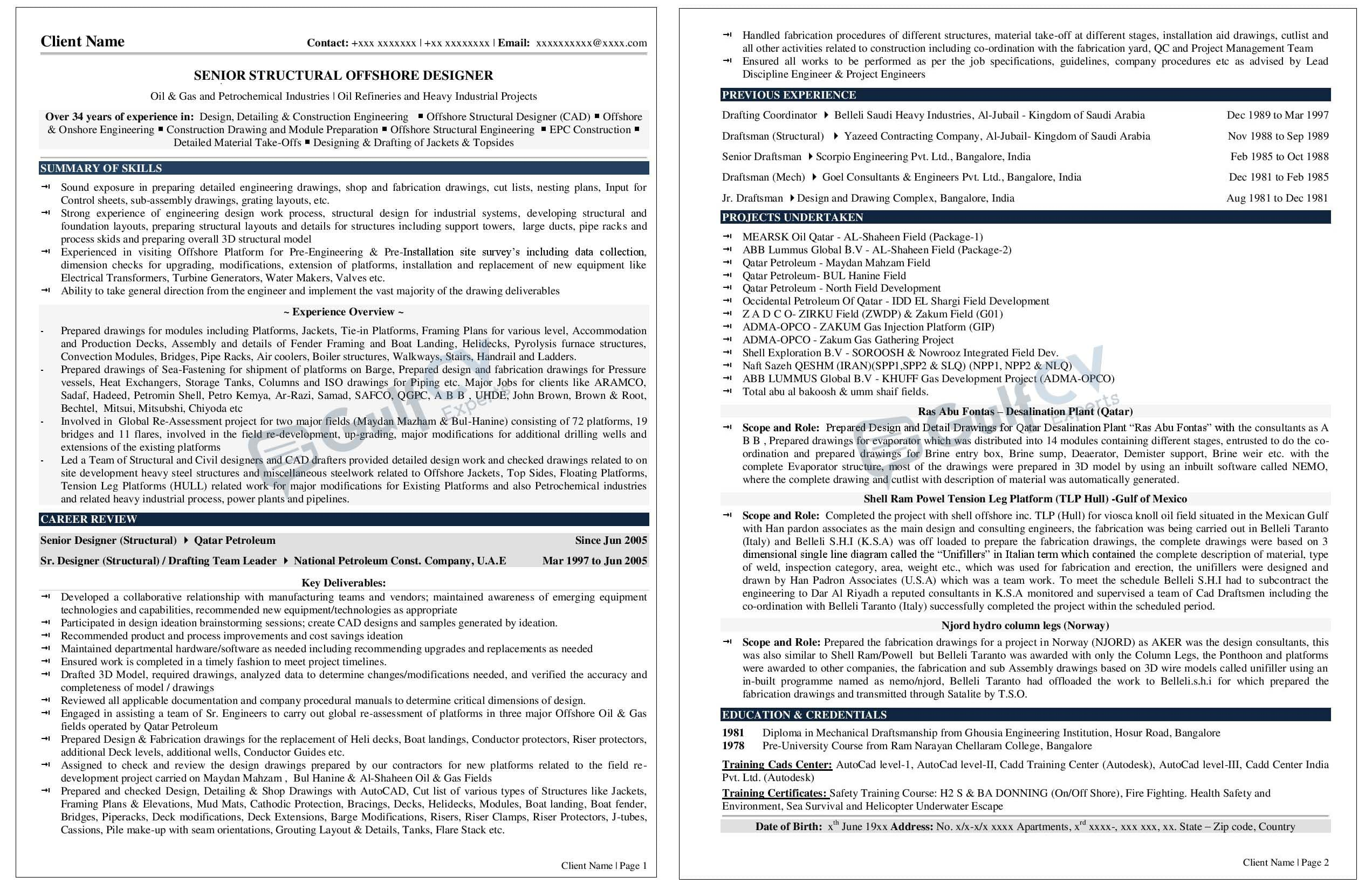 Senior Manager resume samples--gulfcvexperts.com